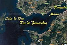 Isla de Ons en la Ria de Pontevedra